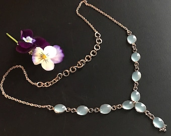 Vintage Moonstone Sterling Necklace
