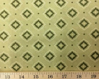 Moroccan Lime Green Geometric Fabric By The Yard or Half Yard Olive Green Morocco 100% Cotton Quilting Apparel Fabric a3/18