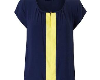 Lexi Short Sleeve Top - Navy