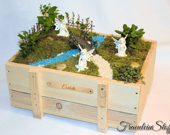 Mini Garden Fairy Garden Fairy garden miniature with or without plants/name plate