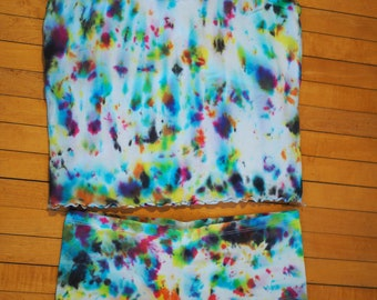 Size L-XL Hand-dyed camisole and panties