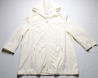 vintage Voyage by Marina Rinaldi women's Jacket raincoat SIZE 31 made in Italy white/beige