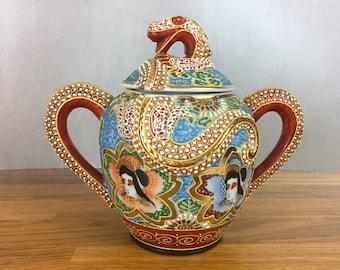 Dragonware/ Satsuma Sugar Bowl