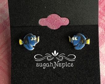 Finding Dory earrings - Finding Dory Stud Earrings - Dory Earring Posts - Fish Earrings - Dory Dangle Earrings - Dory Studs