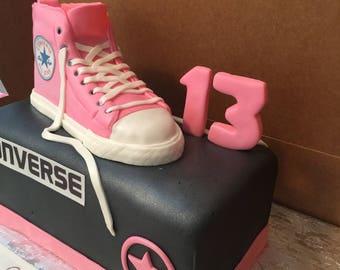 4 Piece Converse Cake Topper