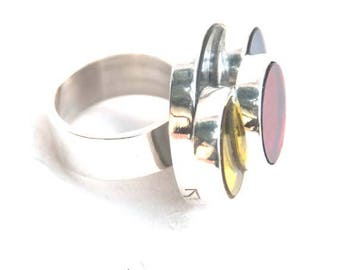925 Silver ring and miror