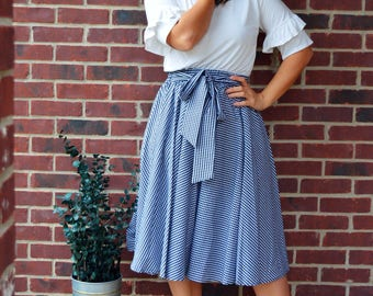 SALE! Bow Tie Gingham Skirt  Small-3XL