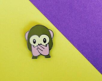 Emoji Monkey Mouth Hard Enamel Pin