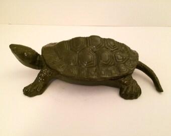 Cast Iron Hinged Back Turtle
