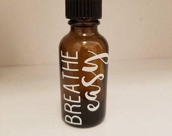 Breathe Easy Essential Oil Label