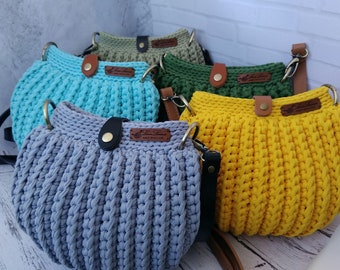 Matreshka bag, seashell bag, crossbody bag, crocheted, handmade, for women, summer bag
