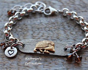 Hedgehog Bracelet, Hedgehog Jewelry, Pet Hedgehog, Hedgehog MOM