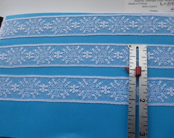 "7/8"" White Maline Lace by half-yd"