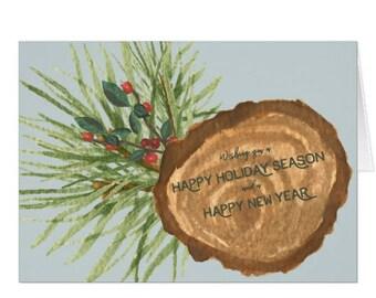 Happy Holiday's Greeting Card - Christmas Card - Holiday Card