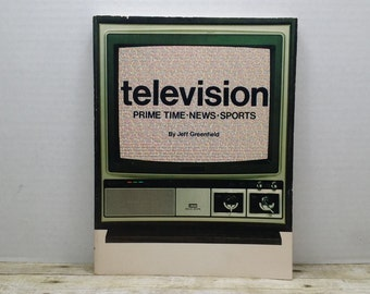 Television, Prime Time, News, Sports, 1980, Jeff Greenfield, savings of America, vintage TV book