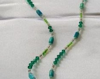By the Shore Delicate Crystal Necklace