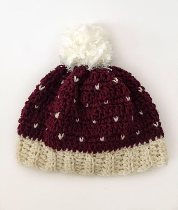 Winter-Hut Mütze Hut häkeln Hut Pom Pom Mütze Pom Pom