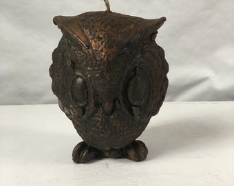 Vintage owl candle unused from the 70s