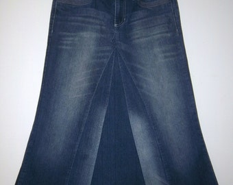 Long Jean Skirt, Made To Order