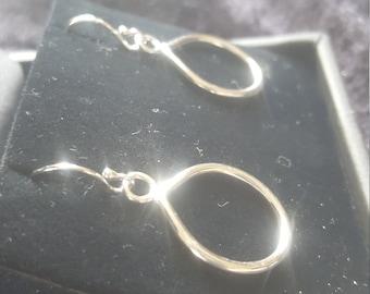 Argentium silver teardrop earrings