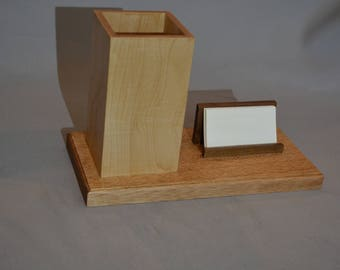 Pencil Holder and Business Card Holder