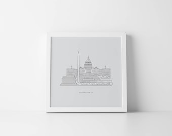 Washington, D.C. Cityscape Print