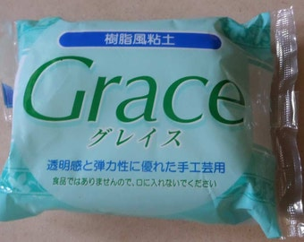 One packet of Grace Resin Clay. Air drying clay. 200g. Translucent. Good for miniature food and crafts.