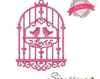 "Die cut metal bird ""Sweet Birdcage"" elite Cottage Cutz die"
