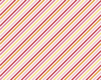 Riley Blake Fancy Free Collection  designed by Lori Whitlock -  Pink Stripe