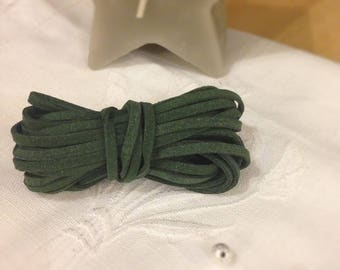 Forest green suede cord