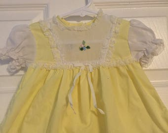 Vintage Infant Yellow and White dress