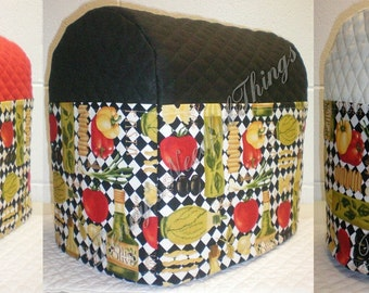 Italian Kitchen Quilted KitchenAid Stand Mixer Cover w/6 Pockets (3 Colors Available)