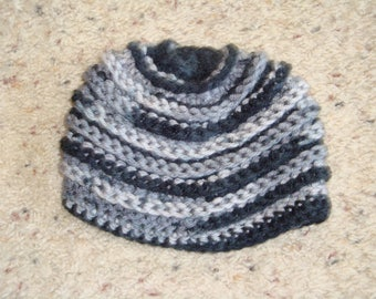 Spiral Ribbed Baby Hat