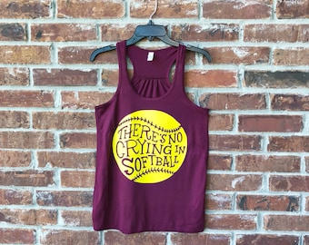 There's No Crying in Softball, No Crying Softball Tank, No Crying Softball, Softball Mom Tank, Team Mom Softball, Softball Mom, Softball Tee