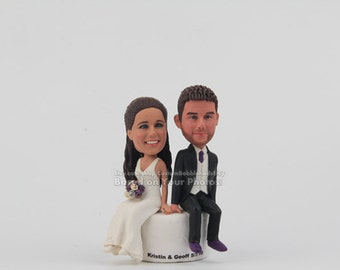 Funny Cake Topper - Cake Topper for Wedding Funny Cake Topper, Wedding Cake Topper,Custom Cake Topper, polymer clay cake topper