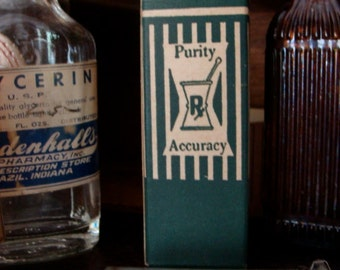 Antique Medical Rx  Original Box