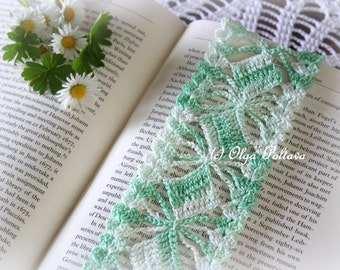 Crochet Bookmark Pattern, Lace Crochet Bookmark, Crochet Lace Edging, Lace Trim, Crochet Pattern, Instant PDF Download