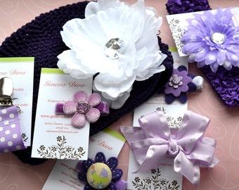 Newborn Gift Set in Purple