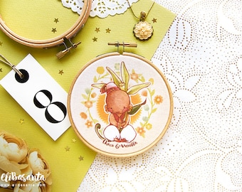CHOCO & VANILLA - Print Embroidery Hoop Frame