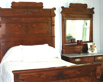 Victorian Bedroom Set 3 Pcs 1860 1880