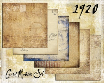 Digital Paper Pack 1920s Cardmakers Set downloadable printables