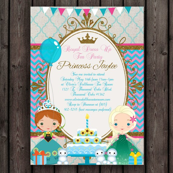 Wonderful frozen fever invitation frozen birthday party Princess GW12