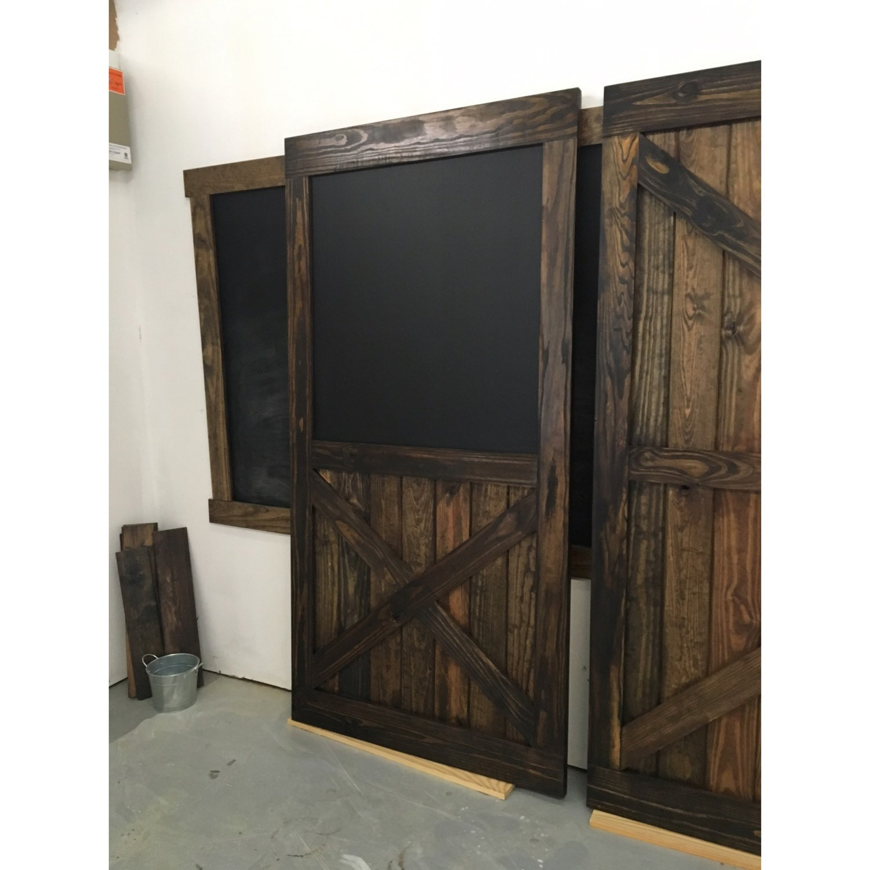 🔎zoom  sc 1 st  Etsy & Rustic Sliding Barn Door Chalkboard Design w/Half X Multi