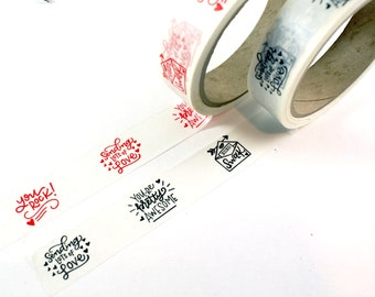 SHOP EXCLUSIVE - hand lettered washi tape - you rock!, you're pretty awesome, swak, sending lots of love