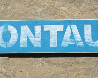 Montauk Wood Sign with Rustic Finish