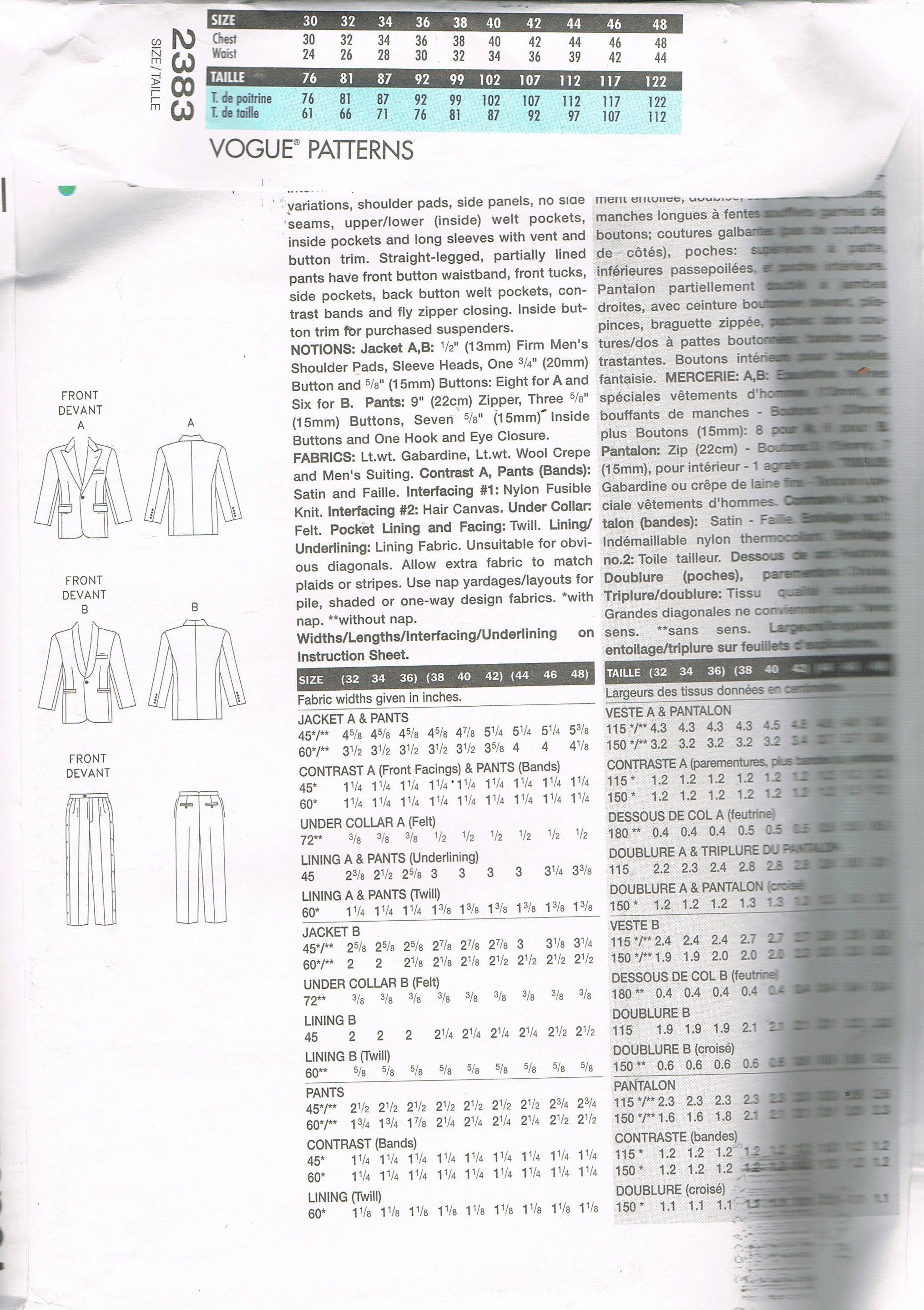 Famoso Patrón De Costura Smoking Ilustración - Ideas de Patrón de ...