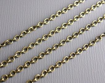 CHAIN-AB-2MMx2MM - Fine Antique Bronze Chain 2mm x 2mm - 10 ft