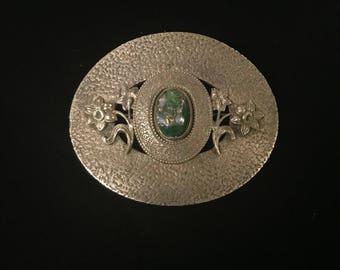Vintage Nickel Plated Brooch