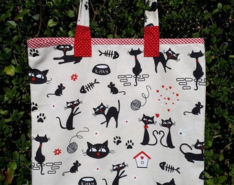 The wander cats party tote bag