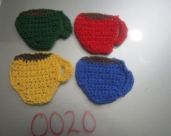 Crochet table coasters